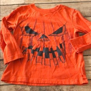 Child's place size XS 4 long sleeve pumpkin shirt